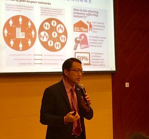 (SH) Dr. Lawrence Wong spoke at a HKU ICB seminar on Big Data Strategies