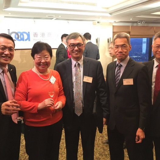 (HK) Dr. Lawrence Wong joined the HKBAA spring cocktail.