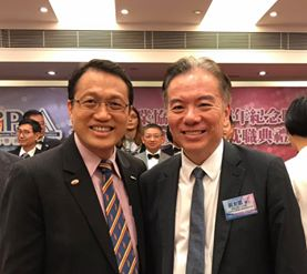 (HK) Dr. Lawrence Wong attended 18th anniversary dinner and inauguration ceremony of iProA Internet Association.