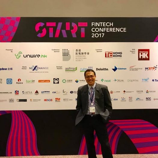 (HK)Dr. Lawrence Wong attended the Fintech Conference 2017 organised by HK Blockchain Society.
