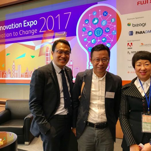 "(HK) Dr. Lawrence Wong spoke on ""Applying Big Data to the Business World"" in Fuji Xerox VIP Luncheon."