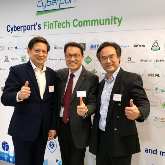 (HK) Dr. Lawrence Wong leaded a team to have a visit to Cyberport.