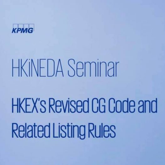"(HK) Dr. Lawrence Wong chaired the HKiNEDA Seminar: ""New Rules / Regulations / Guidelines for INEDs and Boards""."