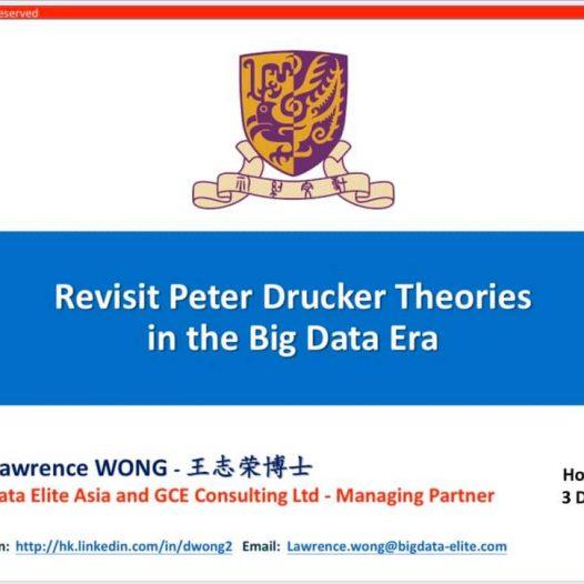 Revisit Peter Drucker Theories in the Big Data Era